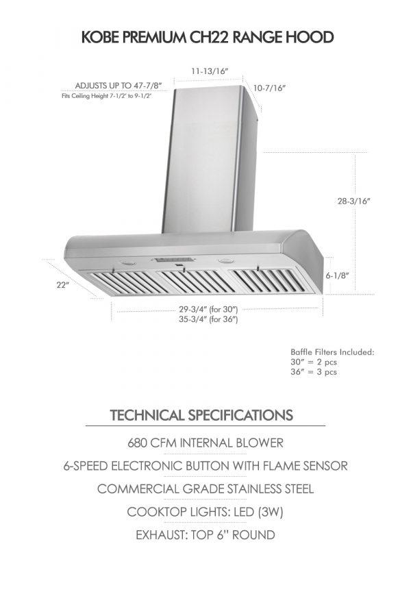 CH22 SQB6-WM-XX Series (Dimensions & Specifications)