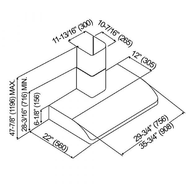CH22 SQB6-WM-XX Series (Product Diagram)