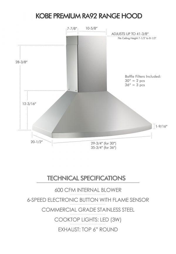 RA92 SQB6-XX Series (Dimensions & Specifications)