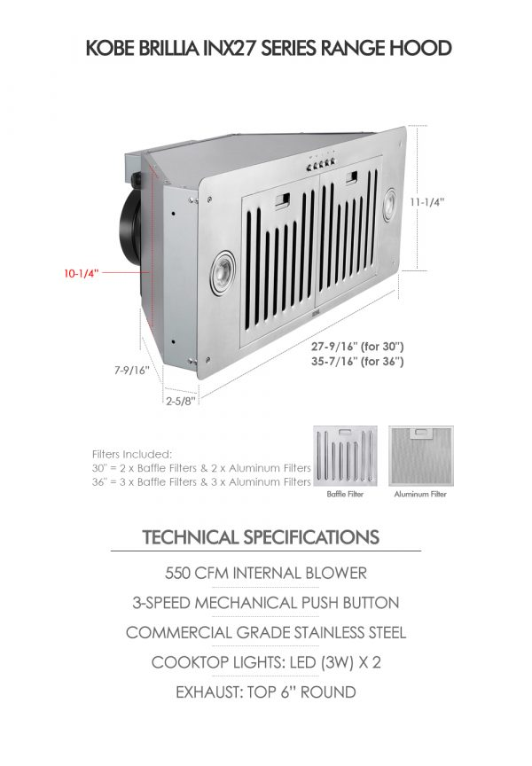 INX27 SQB-700-2 Series (Dimensions & Specifications)